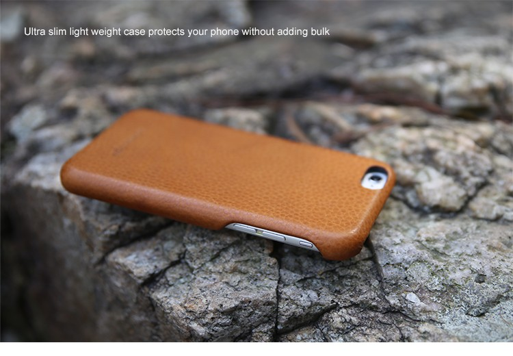 Top quality full grain Italian cow leather case for iphone 6