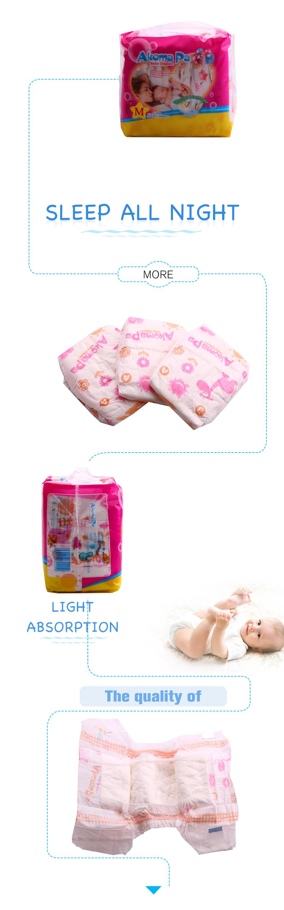 hot sale super soft economical disposable reusable newborn malaysia b grade baby diapers