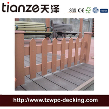 China factory 1800x1800mm WPC fencing wood plastic composite fense