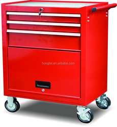 Easy Mobile Bottom Metal Tool Trolley with Door