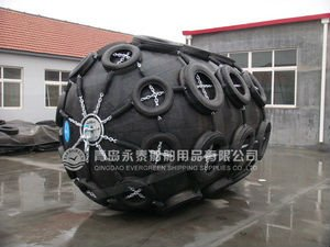 marine rubber fender with tire net