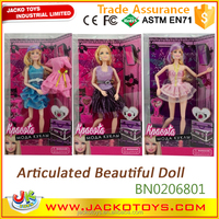 Articulated lovely russian toys fashion dolls baby doll for girl