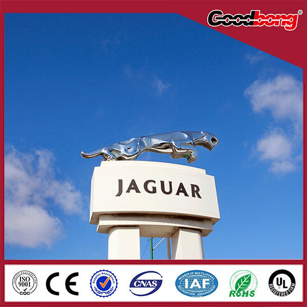 three-dimensional outdoor pylon advertising logos signs and names billboard
