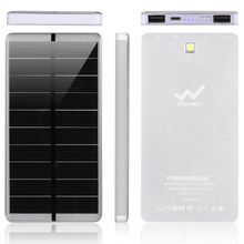 PowerGreen Wholesale Lithium Battery Mini Solar Generator 10000mAh USB Portable Mobile Charger Solar Power Bank