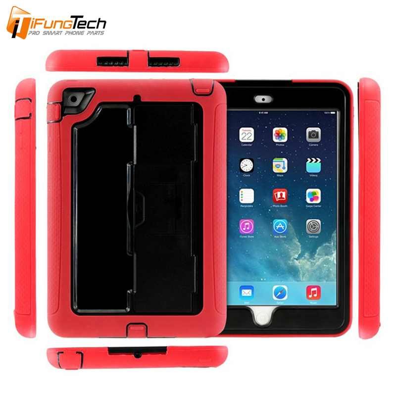 Factory Wholesale for iPad Mini 4 3 2 1 Colorful Robot Phone Case Silicone PC TPU Shockproof Hybrid Rubber Armor Cases Cover