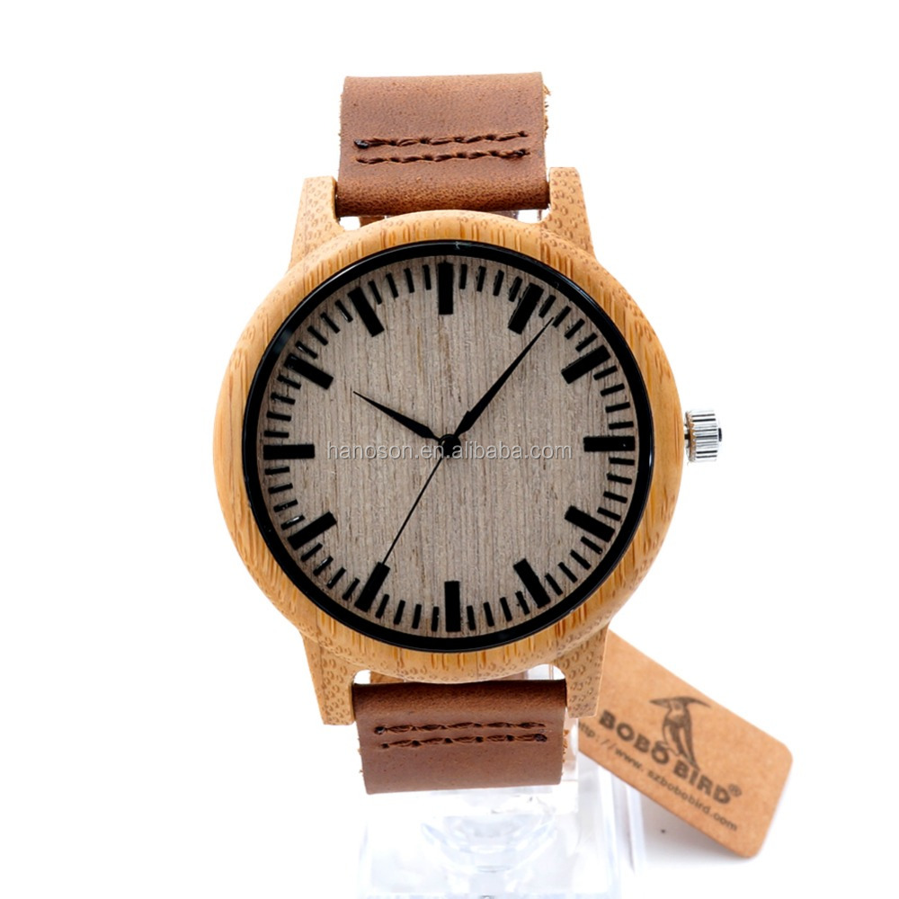 Unisex hot style wood watch with curved face on promotion