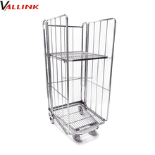3-Side Folding Steel Storage Roll cage