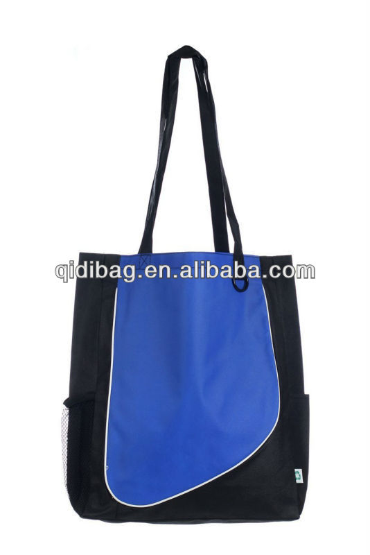 Royal Blue Convenience Tote Shopping Bag Long Handle Durable Eco Non-Woven RPET Material | rpet shopping bag