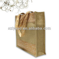 Buy high quality burlap tote bag,Custom Logo jute bag