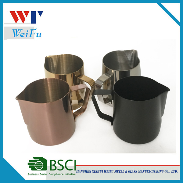 Decorative Stainless Steel Cocktail Cup Metal Milk Cup/milk Jug/pitcher