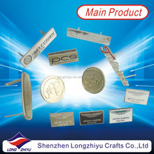 High quality customized design logo metal nameplate for handbags,soft enamel silver label badges