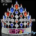 wholesale colored rhinestone USA Patriotic pageant crown