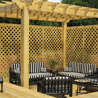 Outdoor Decorative Wood Lattice Wooden Home