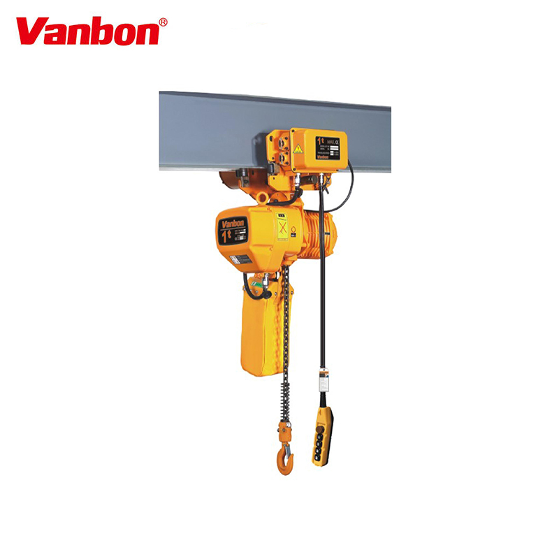 ISO9001 Soft OEM Quality electric chain hoist for lifting loading Vanbon