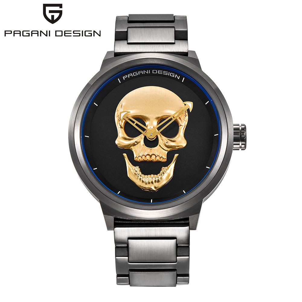 halloween pagani gothic punk skull creative watch 3d skeleton mens stainless steel watches buy pagani skull watches3d skeleton mens watchesstainless