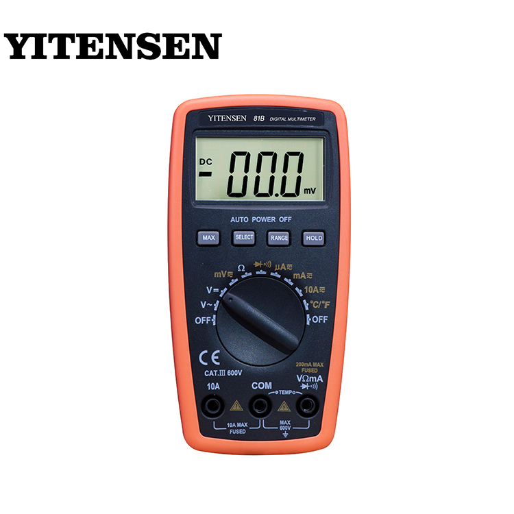 YITENSEN 81B High Accuracy 10A Fuse Unit Symbol Display Multimeter Manual