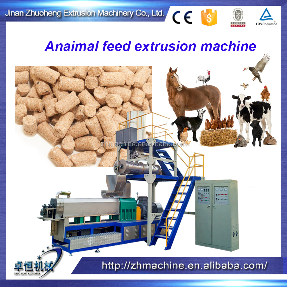 Compound animal feed extruding machine