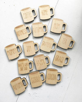 Souvenirs wood coffe key chains