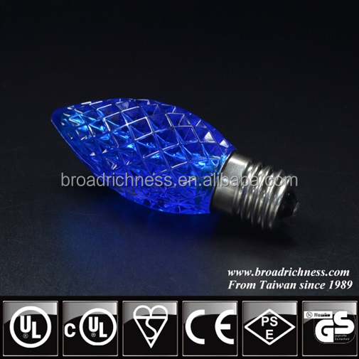 high quality blue c9 string light commercial / window led light