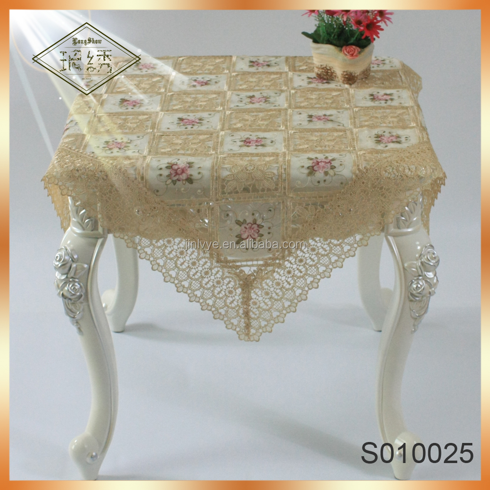 Romance colorful daisy lace watersoluble tablecloth for wedding