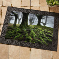 Custom Sublimation Printed Floor Mats with Rubber Frame