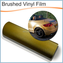 High lever metallic brushed black car self adhesive vinyl film with low price
