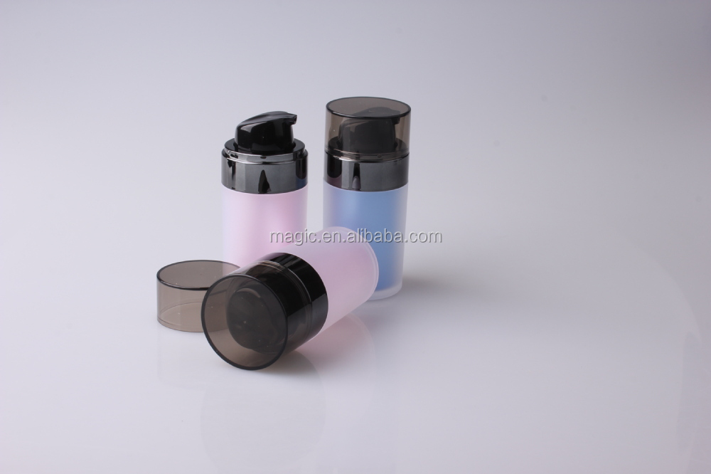 plastic bottles double wall cosmetic acrylic serum airless bottle