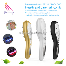 SR-1405 portable electric vibrating hair loss and dye treatment infrared comb massager gift box