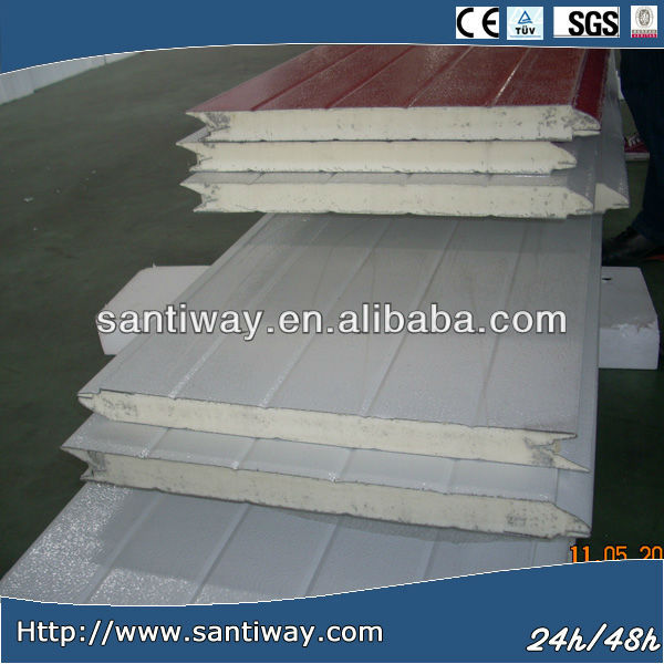 fire proof polystyrene/pu sandwich roof panel with ISO 9001:2008 certification