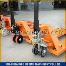 Red 2 ton hydraulic hand pallet truck/manual forklift