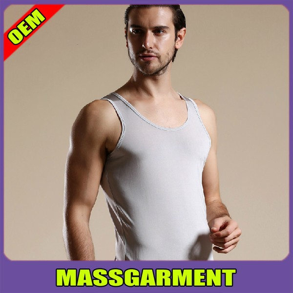 2015 hot sell top quality and lowest price 100 polyester men bulk blank tank top