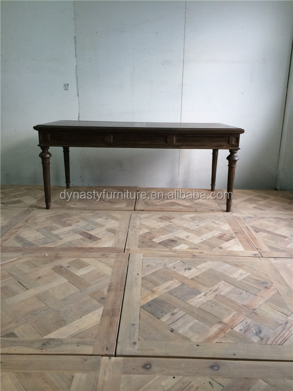 square vintage wooden dining table set