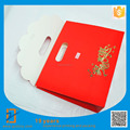 Chinese Best Quality Die Cut Handle Packaging Red Paper Gift Bags for Wedding
