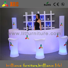 color curved bar reception counter blinking furniture