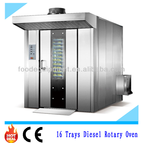 16 Trays Big Volume Diesel Rotary Oven