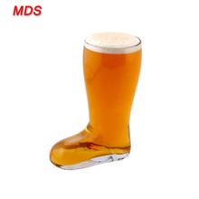 Different capacity glass beer boot cups stein