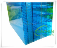 greenhouse project use hollow clear triple layer polycarbonate sheet