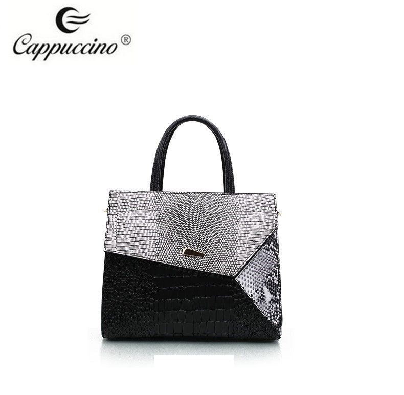 High Quality New Design Durable Crocodile Grain Genuine Leather Handbag for Women