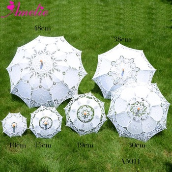 New Assorted Size Party Bridal Shower Decoration Umbrella Tea-Party Lace Umbrella Wedding Favors