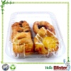 Food grade plastic bakery pie tarts blister container