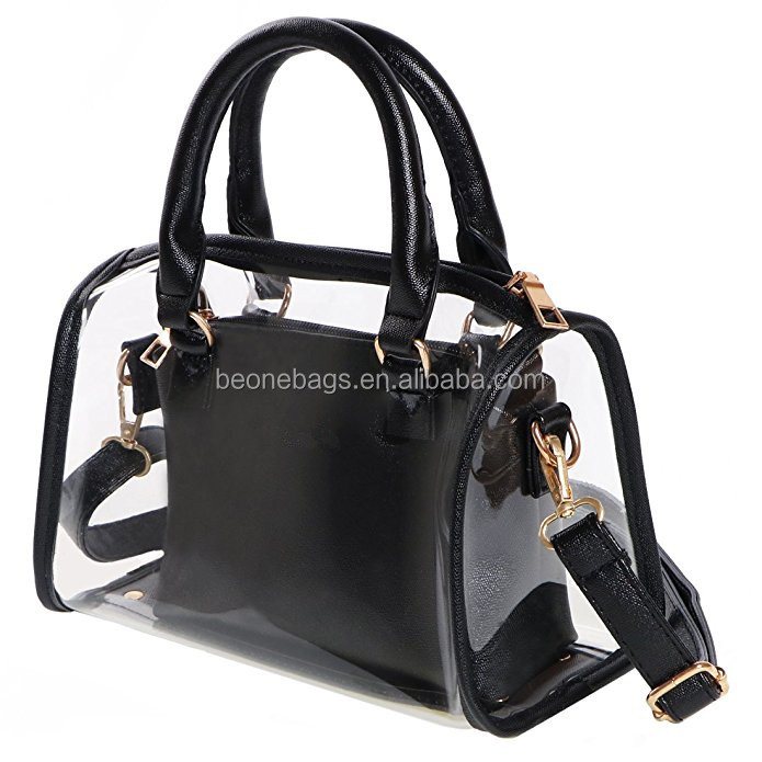 Customize fashion clear pvc purse and handbag for women