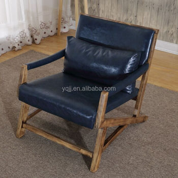Wooden cafe sofa chair