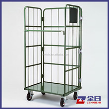 Nest Away Folding Rolling Storage Cage/ Pallet Steel Trolley