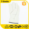 Assemble use protective hand equipment driving cowhide seamless working gloves