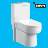 oval shape one piece ceramic cyclone flushing siphonic bathroom toilet