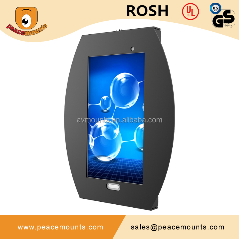 VESA Mounting 75x75,100x100 custom anti-theft metal display case for 7 inches android tablet