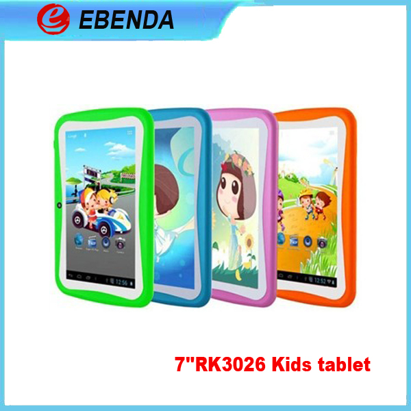Children tablet pc 7 inch dual core 512/4GB dual camera cheap kids learning tablet wifi