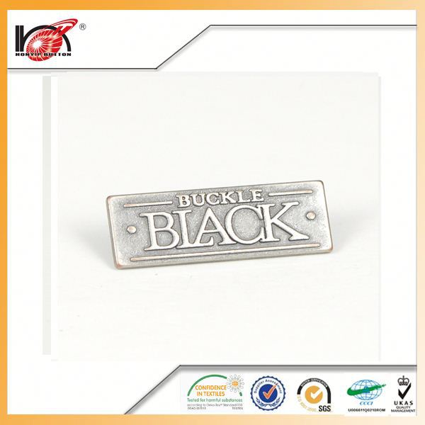 Various of metal trim button custom metal logo name plate for handbag for trade company