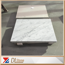 2017 New Popular White Composite Carrara Marble Price by Meter