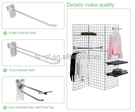 Low price chrome metal slatwall oval pipe towel rack for bathroom